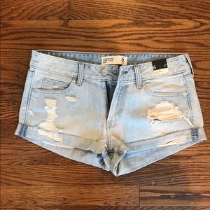 Abercrombie and Fitch light wash jean shorts